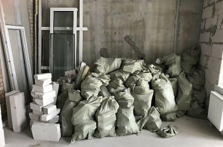 упаковка строительных отходов в мешки